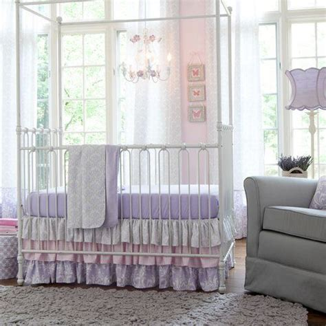 damask baby bedding lilac and silver gray damask baby crib bedding baby girl