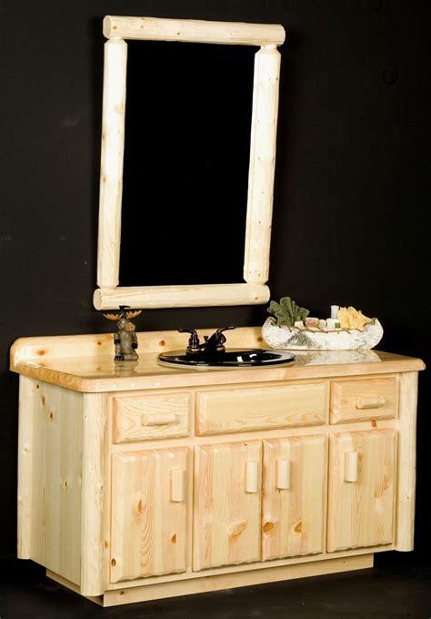 Log Bathroom Vanity by Handmade Log Bathroom Vanity By Viking Log Furniture