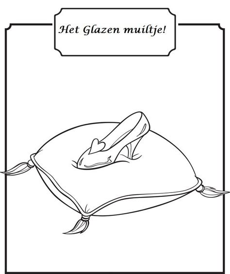 cinderella glass slipper coloring pages