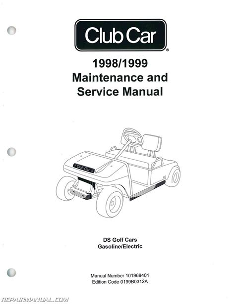 1998 1999 club car ds golf car service manual