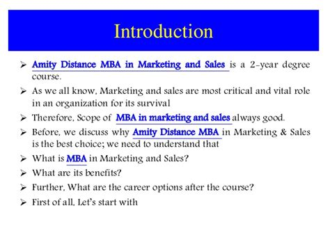 Best Mba Programs For Sales And Marketing by Amity Distance Learning Mba In Marketing And Sales