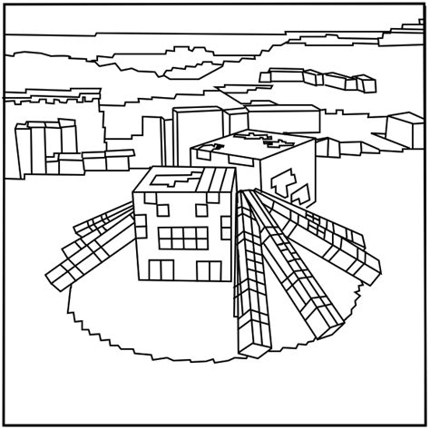 minecraft coloring pages spider jockey printable minecraft spider coloring pages elijah