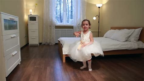 dancing in my bedroom little dancer cute little girl in white dress dancing in