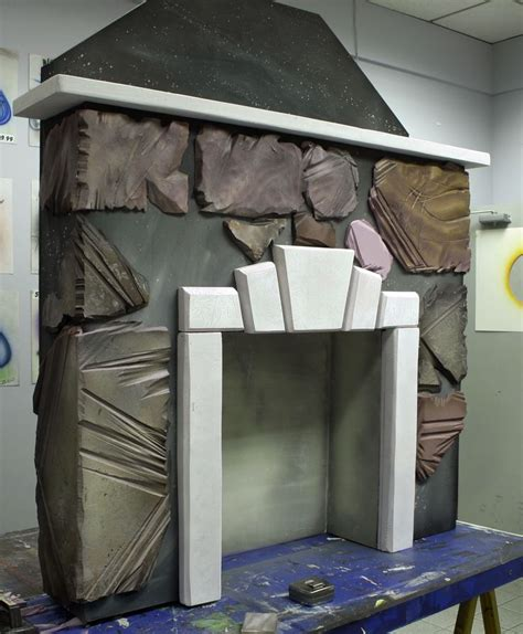 styrofoam fireplace stage prop props - Fireplace Props
