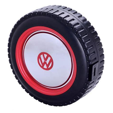 Vespa Union Wheel Shape Bag official volkswagen wheel shaped tool box kit collectable set 4 motors