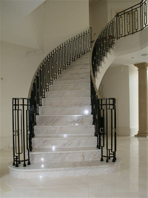 marble staircase bespoke balustrade stainless steel hand rails for marble