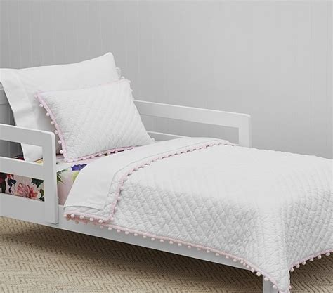 Quilted Toddler Bedding by Organic Pom Pom Toddler Quilted Bedding Pottery Barn