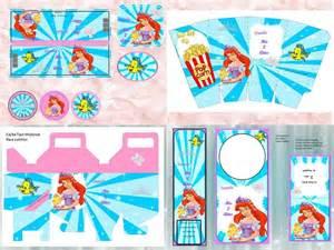 kit imprimible la sirenita tarjeta decoracion fiesta