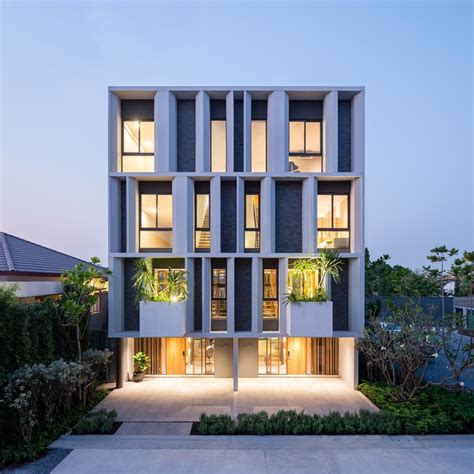 modern home design enterprise townhouse with private garden baan puripuri archdaily
