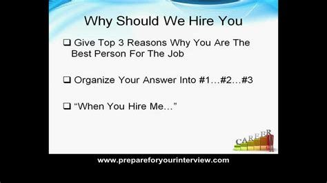 questions and answers question quot why should we hire you quot