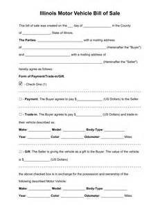 Bill Of Sale Template Virginia by Free Illinois Bill Of Sale Forms Pdf Word Eforms