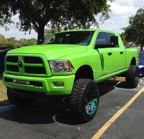 dodge truck colors lime green color lifted dodge ram truck ram truck pics