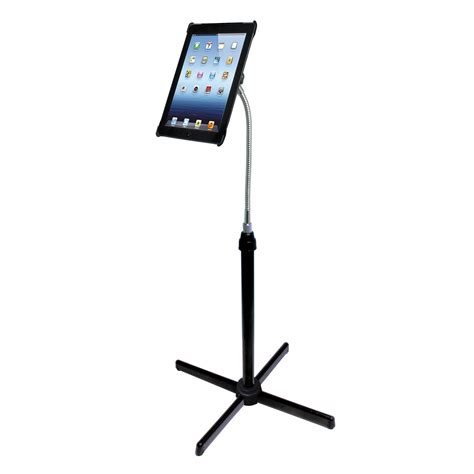 ipad easel cta digital height adjustable gooseneck floor stand pad afs b h