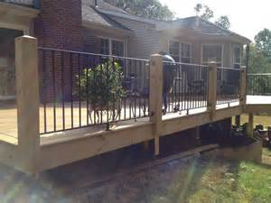 Iron Pickets For Decks Wood Posts And Wrought Iron Rails And Pickets