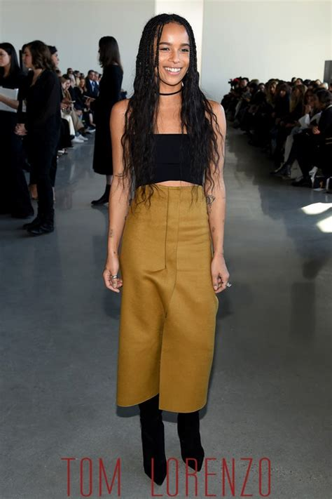 New York Fashion Week Front Row Zoe Hathaway Gisele And Co by Zo 235 Kravitz At The Calvin Klein Collection Show Tom