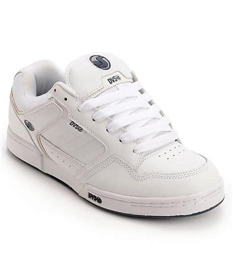 dvs transom white leather skate shoes zumiez