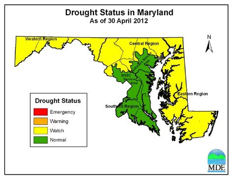 maryland drought map drought in effect for western central and eastern