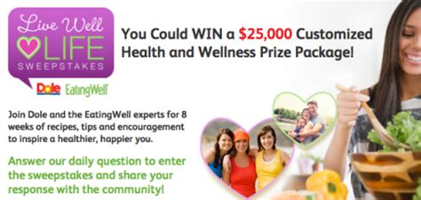 Eating Well Magazine Sweepstakes - 500 prizes archives mojosavings com