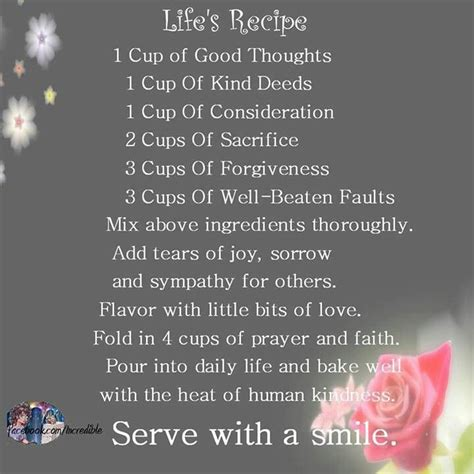 enjoy a lifetime of recipes books recipe for a happy true quotes