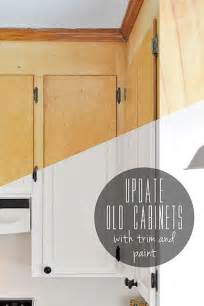 Update Kitchen Cabinet Doors Update Flat Front Cabinets By Adding Trim To The Doors Painting Diy Crafts