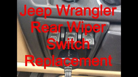 repair windshield wipe control 1999 jeep cherokee head up display windshield wiper switch replacement 1999 jeep wrangler sahara youtube