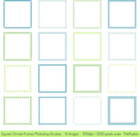 square pattern brush photoshop square frames photoshop brushes square ornate frames