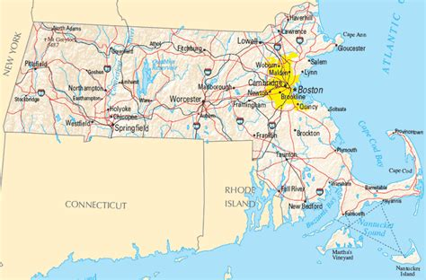 massachusetts city map massachusetts map map of massachusetts