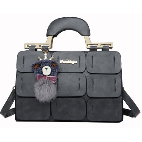 Handbag Casual Wanita Murah mei ge tas selempang handbag wanita casual black