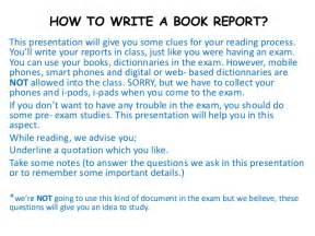 Writing Book Reports How To Write A Book Report