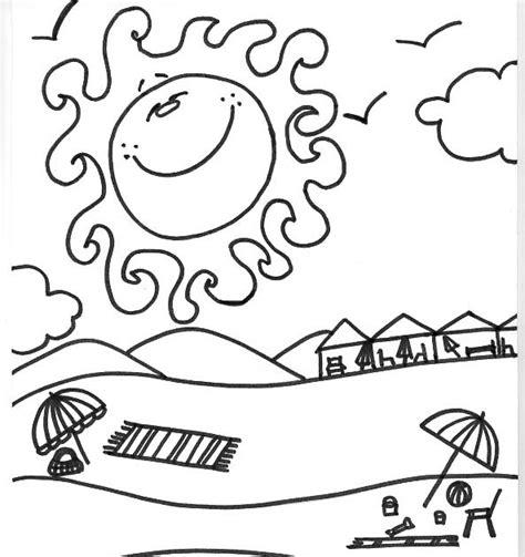 dibujos infantiles para colorear del verano paint a drawing dibujo del verano para imprimir y colorear