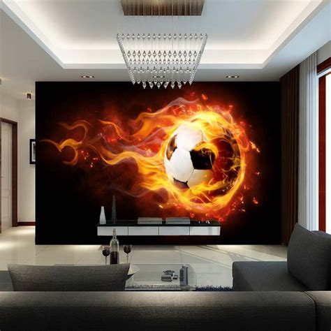 soccer murals for bedrooms 3d football mural wallpaper soccer full wall murals print
