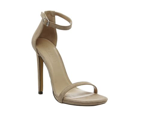 Office Heels 9cm office parallel square toe sandals suede high