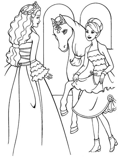barbie coloring pages photos barbie horse coloring pages free large images