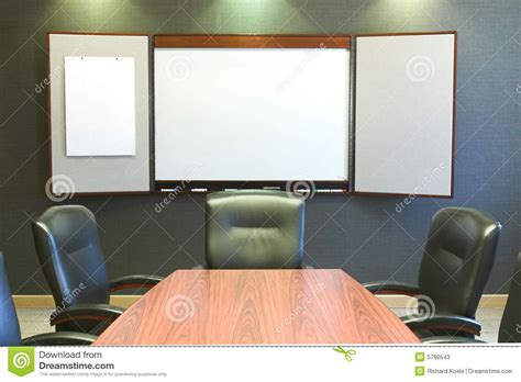 Whiteboard Conference Table Conference Table W Blank Whiteboard Stock Photos Image 5790543
