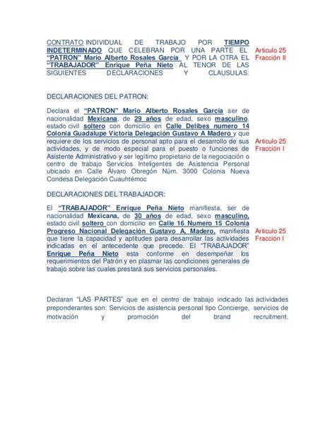 contratos de trabajo bonificados 2016 contrato individual de trabajo por tiempo indeterminado