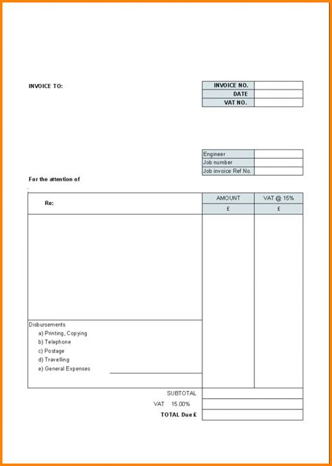 invoice statement template free 8 blank billing statement simple bill