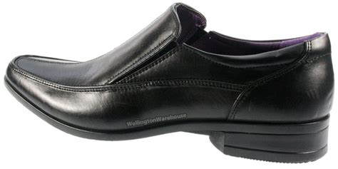 comfortable mens black work shoes mens giovanni black slip on apron style smart formal work