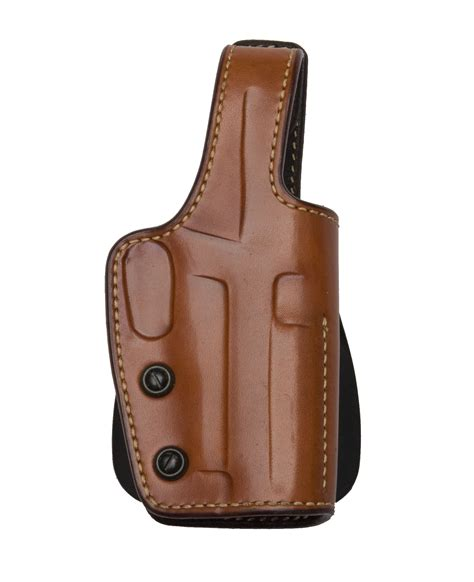 leather gun holster pistol paddle holster leather brown the specialists