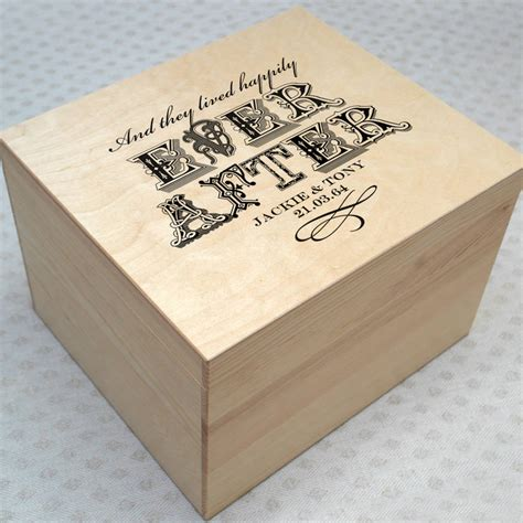 Wedding Memory Box Ideas by Personalised Wedding Memory Box By Letterfest