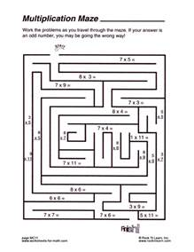 math mazes worksheets davezan