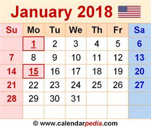 Kalendar Kuda 2018 January January 2018 Calendars For Word Excel Pdf