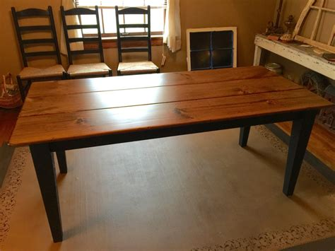 6 Foot Farm Table Rustic Dining Table Aged Kitchen Table 6 Foot Dining Table