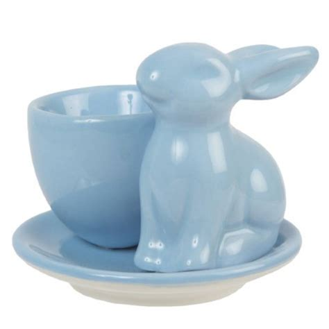 Kaos Bunny In Blue Cup bunny egg cup by the chicken and the egg