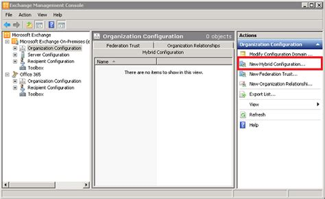 tutorial exchange online using the hybrid configuration wizard in exchange 2010