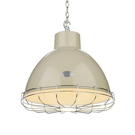 Retro Industrial Ceiling Pendant Light In Cream With Metal Style Pendant Lighting