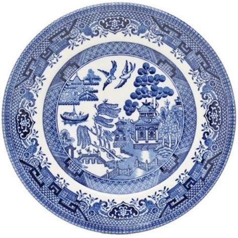 pottery pattern registration numbers dinner plate 26 cm churchill willow blue tableware