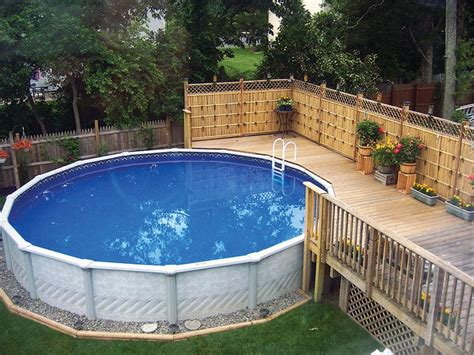 backyard landscaping with above ground pool 22 amazing and unique above ground pool ideas with decks