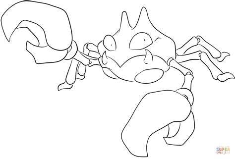 pokemon krabby coloring pages krabby coloring page free printable coloring pages