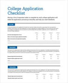 college application checklist template sle checklist template 19 free documents in