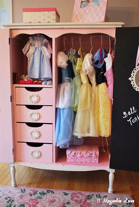 girls dress up armoire operation organization organized dress up costumes and